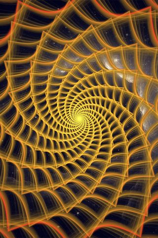 320x480 Wallpaper spiral, twisted, tangled, fractal, abstraction