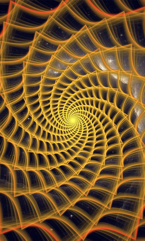 480x800 Wallpaper spiral, twisted, tangled, fractal, abstraction
