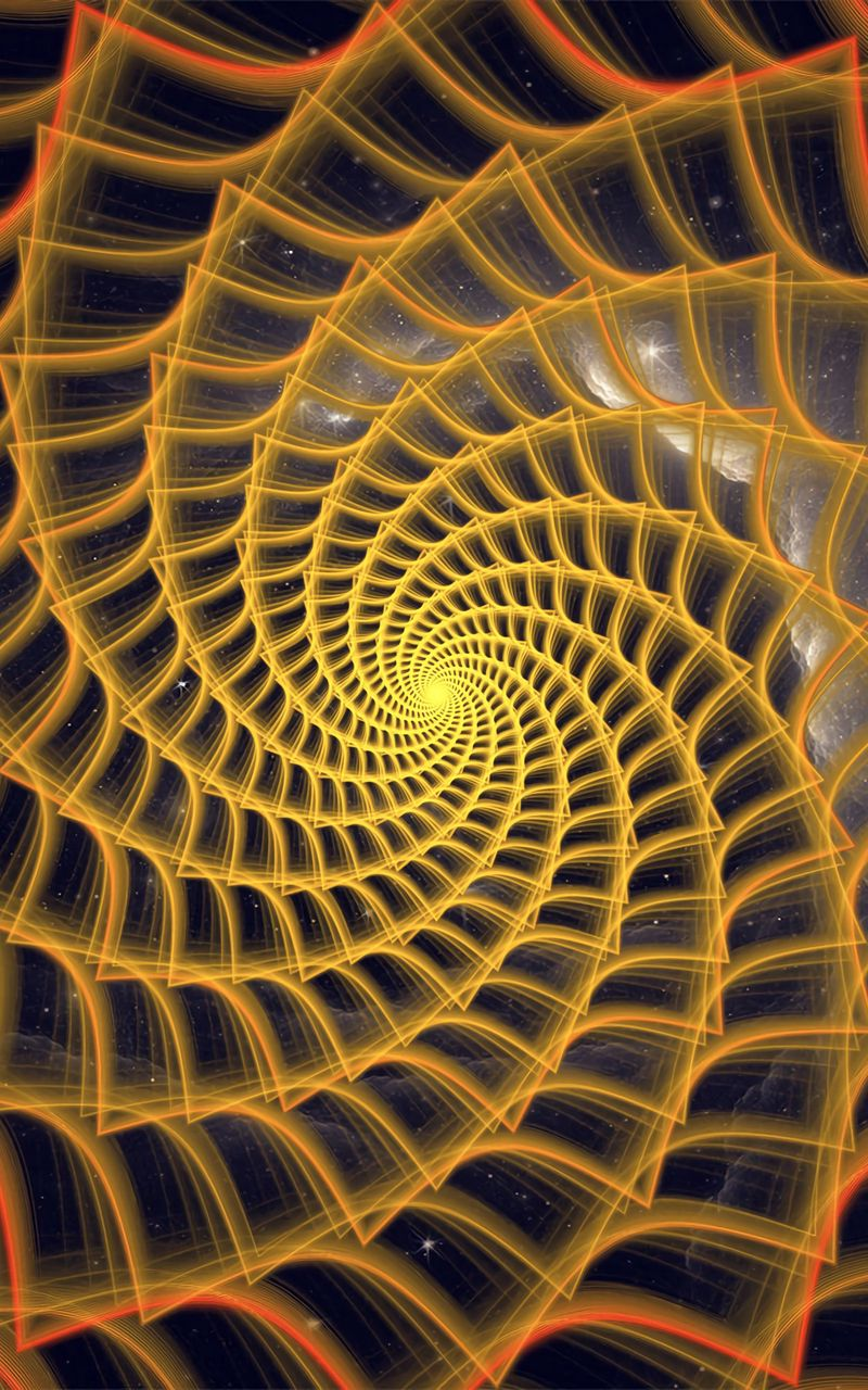 800x1280 Wallpaper spiral, twisted, tangled, fractal, abstraction