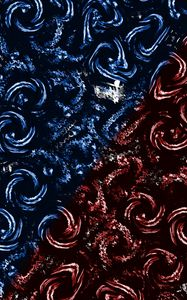 Preview wallpaper spirals, circles, swirling, blue, red