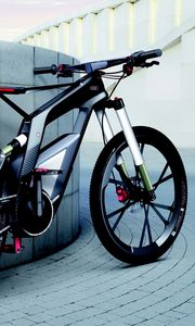 Preview wallpaper sport, audi, grey background, bicycling