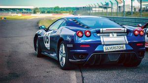 Preview wallpaper sports car, side view, blue