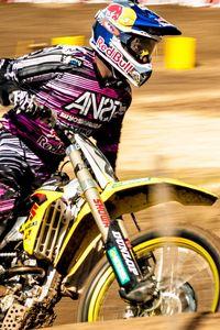 Preview wallpaper sports, racer, motorcycle, man, helmet, eye, look