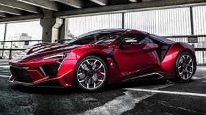 Preview wallpaper sportscar, supercar, red, car, automobile