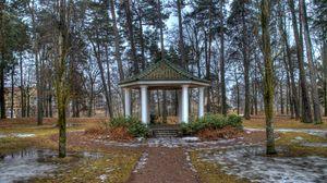 Preview wallpaper spring, park, trees, landscape