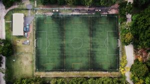 Preview wallpaper stadium, aerial view, soccer field