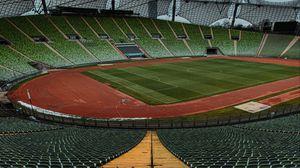 Preview wallpaper stadium, football field, football, stands