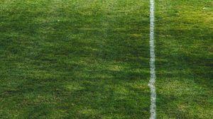 Preview wallpaper stadium, football, grass, markup