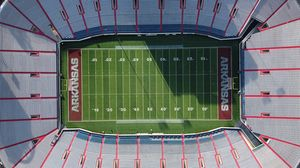 Preview wallpaper stadium, stands, aerial view
