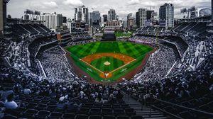 Preview wallpaper stadium, stands, baseball, match, field, arena