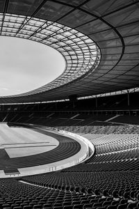 Preview wallpaper stadium, stands, seats, sports, black and white