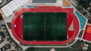 Preview wallpaper stadium, top view, treadmill