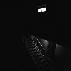 Preview wallpaper stairs, dark, bw, room