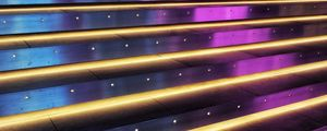 Preview wallpaper stairs, neon, backlight, light