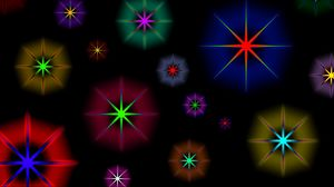 Preview wallpaper star, background, circles, patterns, glitter, colorful