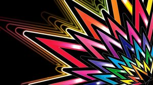 Preview wallpaper star, form, colorful, lines, patterns