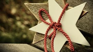 Preview wallpaper star, rope, christmas