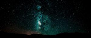 Preview wallpaper starry sky, milky way, night, shining, galaxy