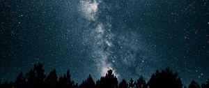 Preview wallpaper starry sky, milky way, stars, night