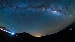 Preview wallpaper starry sky, shine, glitter