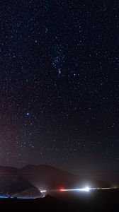 Preview wallpaper starry sky, space, galaxy, radiance, night