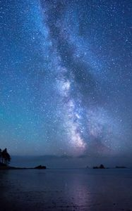 Preview wallpaper stars, sky, shore