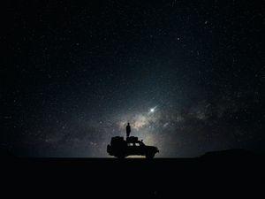 Preview wallpaper stars, sky, space, car