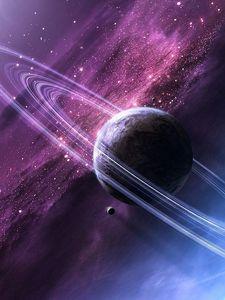 Preview wallpaper stars, space, glow, planet