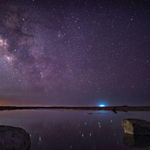 Preview wallpaper stars, starry sky, night, purple