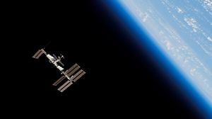 Preview wallpaper station iss, space, orbit, planet, earth