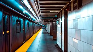 Preview wallpaper station, subway, underground, transport, platform