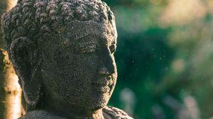 Preview wallpaper statue, buddha, buddhism, stone, sculpture