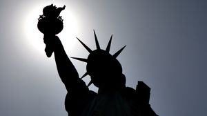 Preview wallpaper statue of liberty, new york, usa, shape, shadow