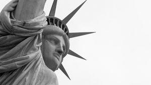 Preview wallpaper statue of liberty, stone, landmark