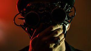 Preview wallpaper steampunk, glasses, hat, man