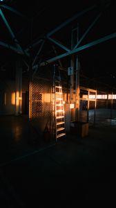 Preview wallpaper stepladder, ladder, glare, light