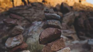 Preview wallpaper stones, balance, harmony, top