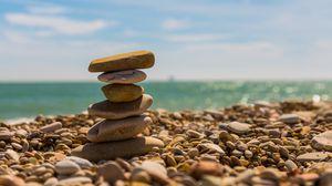 Preview wallpaper stones, balance, harmony, beach