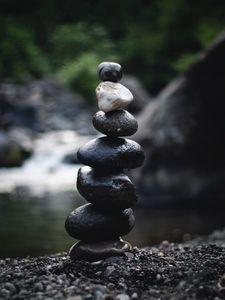 Preview wallpaper stones, balance, meditation, pacification, pebbles