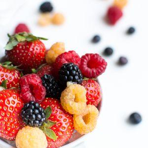 Preview wallpaper berries, strawberry, raspberry, blackberry, ripe
