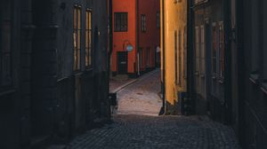 Preview wallpaper street, buildings, city, stockholm, sweden