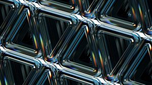 Preview wallpaper structure, geometric, triangles, embossed, glass