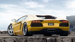 Preview wallpaper style, cars, yellow, sport, lamborghini