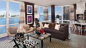 Preview wallpaper style, metropolis, flat, interior, home, design