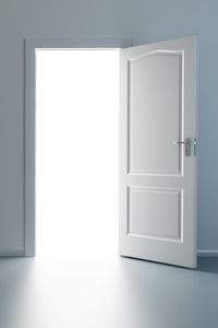 Preview wallpaper style, minimalism, door, wall, design, creative, light