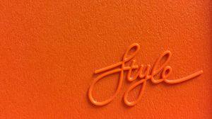 Preview wallpaper style, word, inscription, orange