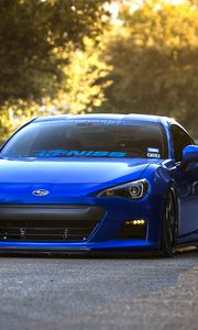 Preview wallpaper subaru, brz, blue, front, sports car, coupe