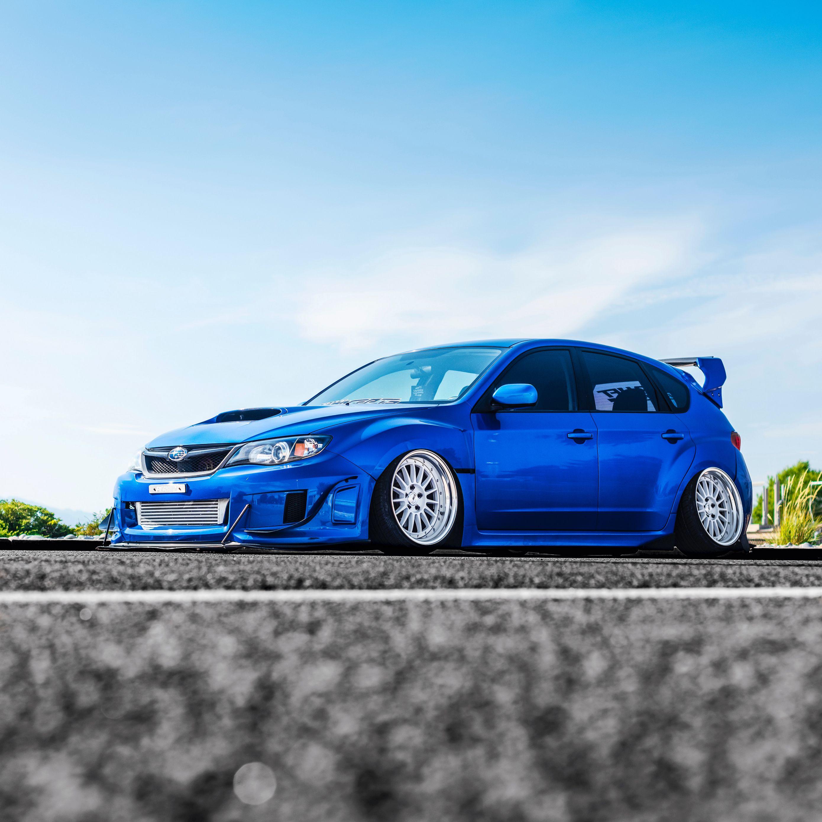 2780x2780 Wallpaper subaru, car, blue, side view