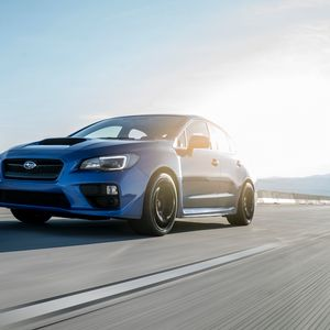 Preview wallpaper subaru, car, speed, movement, side view