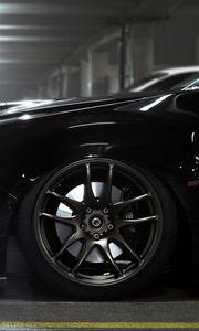 Preview wallpaper subaru, impreza, black, wheels